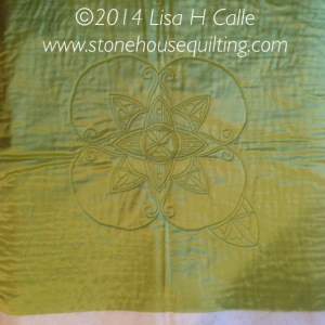 Lisa Calle whole cloth challenge quilt
