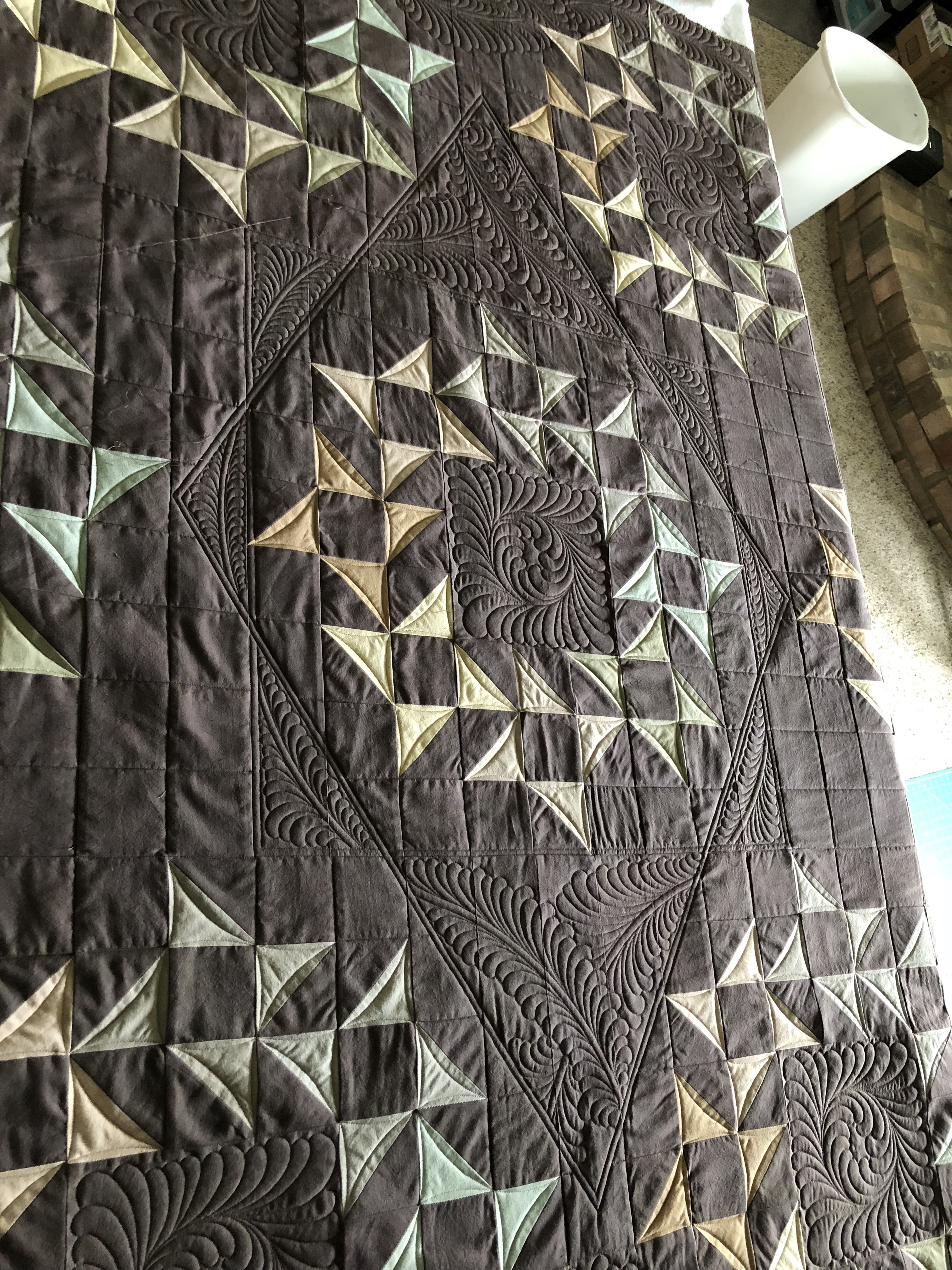 I Implemented Some Straight Line Quilting To Define A Few